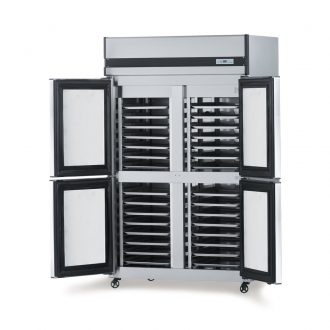 Stainless Steel Refrigerator with Tray Racks